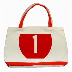 New Zealand State Highway 1 Classic Tote Bag (red) by abbeyz71
