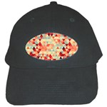 Modern Hipster Triangle Pattern Red Blue Beige Black Cap