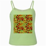 Modern Hipster Triangle Pattern Red Blue Beige Green Spaghetti Tank