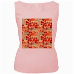 Modern Hipster Triangle Pattern Red Blue Beige Women s Pink Tank Top