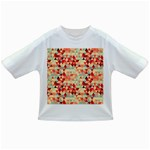 Modern Hipster Triangle Pattern Red Blue Beige Infant/Toddler T-Shirts