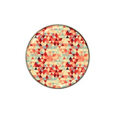 Modern Hipster Triangle Pattern Red Blue Beige Hat Clip Ball Marker (10 Pack) by EDDArt