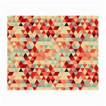 Modern Hipster Triangle Pattern Red Blue Beige Small Glasses Cloth