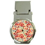 Modern Hipster Triangle Pattern Red Blue Beige Money Clip Watches