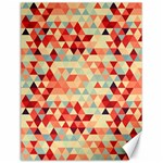 Modern Hipster Triangle Pattern Red Blue Beige Canvas 12  x 16