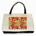 Modern Hipster Triangle Pattern Red Blue Beige Basic Tote Bag (Two Sides)