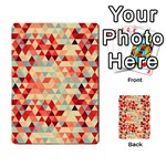 Modern Hipster Triangle Pattern Red Blue Beige Multi-purpose Cards (Rectangle)