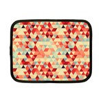 Modern Hipster Triangle Pattern Red Blue Beige Netbook Case (Small)