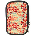 Modern Hipster Triangle Pattern Red Blue Beige Compact Camera Cases