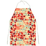 Modern Hipster Triangle Pattern Red Blue Beige Full Print Aprons