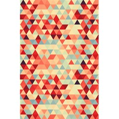 Modern Hipster Triangle Pattern Red Blue Beige 5 5  X 8 5  Notebooks by EDDArt