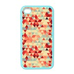 Modern Hipster Triangle Pattern Red Blue Beige Apple iPhone 4 Case (Color)