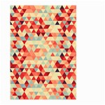 Modern Hipster Triangle Pattern Red Blue Beige Large Garden Flag (Two Sides)