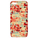 Modern Hipster Triangle Pattern Red Blue Beige Apple iPhone 5 Hardshell Case