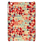 Modern Hipster Triangle Pattern Red Blue Beige Apple iPad Mini Hardshell Case