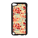 Modern Hipster Triangle Pattern Red Blue Beige Apple iPod Touch 5 Case (Black)