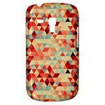 Modern Hipster Triangle Pattern Red Blue Beige Samsung Galaxy S3 MINI I8190 Hardshell Case