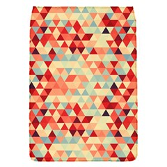 Modern Hipster Triangle Pattern Red Blue Beige Flap Covers (s)  by EDDArt
