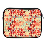 Modern Hipster Triangle Pattern Red Blue Beige Apple iPad 2/3/4 Zipper Cases