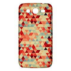 Modern Hipster Triangle Pattern Red Blue Beige Samsung Galaxy Mega 5 8 I9152 Hardshell Case  by EDDArt