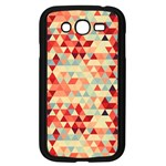 Modern Hipster Triangle Pattern Red Blue Beige Samsung Galaxy Grand DUOS I9082 Case (Black)