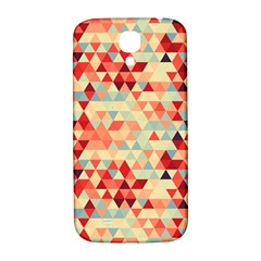 Modern Hipster Triangle Pattern Red Blue Beige Samsung Galaxy S4 I9500/i9505  Hardshell Back Case by EDDArt