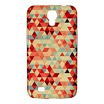 Modern Hipster Triangle Pattern Red Blue Beige Samsung Galaxy Mega 6.3  I9200 Hardshell Case