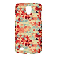 Modern Hipster Triangle Pattern Red Blue Beige Galaxy S4 Active by EDDArt