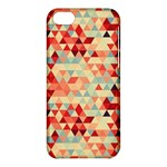 Modern Hipster Triangle Pattern Red Blue Beige Apple iPhone 5C Hardshell Case