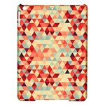 Modern Hipster Triangle Pattern Red Blue Beige iPad Air Hardshell Cases