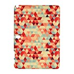 Modern Hipster Triangle Pattern Red Blue Beige Samsung Galaxy Note 10.1 (P600) Hardshell Case