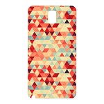Modern Hipster Triangle Pattern Red Blue Beige Samsung Galaxy Note 3 N9005 Hardshell Back Case