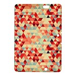 Modern Hipster Triangle Pattern Red Blue Beige Kindle Fire HDX 8.9  Hardshell Case