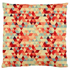 Modern Hipster Triangle Pattern Red Blue Beige Standard Flano Cushion Case (two Sides) by EDDArt