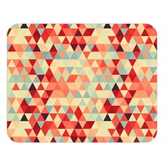 Modern Hipster Triangle Pattern Red Blue Beige Double Sided Flano Blanket (large)  by EDDArt