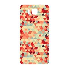 Modern Hipster Triangle Pattern Red Blue Beige Samsung Galaxy Alpha Hardshell Back Case by EDDArt