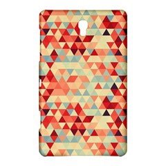 Modern Hipster Triangle Pattern Red Blue Beige Samsung Galaxy Tab S (8 4 ) Hardshell Case  by EDDArt