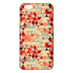 Modern Hipster Triangle Pattern Red Blue Beige Iphone 6 Plus/6s Plus Tpu Case by EDDArt