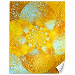 Gold Blue Abstract Blossom Canvas 18  X 24   by designworld65