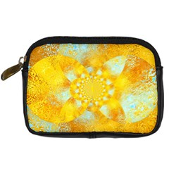 Gold Blue Abstract Blossom Digital Camera Cases by designworld65