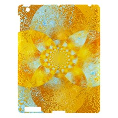 Gold Blue Abstract Blossom Apple Ipad 3/4 Hardshell Case by designworld65