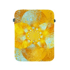 Gold Blue Abstract Blossom Apple Ipad 2/3/4 Protective Soft Cases by designworld65