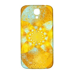 Gold Blue Abstract Blossom Samsung Galaxy S4 I9500/i9505  Hardshell Back Case by designworld65