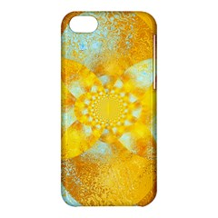 Gold Blue Abstract Blossom Apple Iphone 5c Hardshell Case by designworld65
