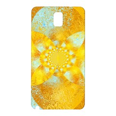 Gold Blue Abstract Blossom Samsung Galaxy Note 3 N9005 Hardshell Back Case by designworld65