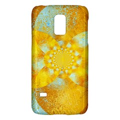 Gold Blue Abstract Blossom Galaxy S5 Mini by designworld65