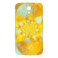 Gold Blue Abstract Blossom Samsung Galaxy Mega I9200 Hardshell Back Case by designworld65