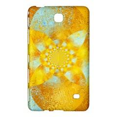 Gold Blue Abstract Blossom Samsung Galaxy Tab 4 (8 ) Hardshell Case  by designworld65
