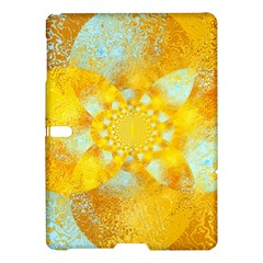 Gold Blue Abstract Blossom Samsung Galaxy Tab S (10 5 ) Hardshell Case  by designworld65