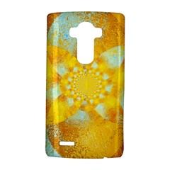 Gold Blue Abstract Blossom Lg G4 Hardshell Case by designworld65